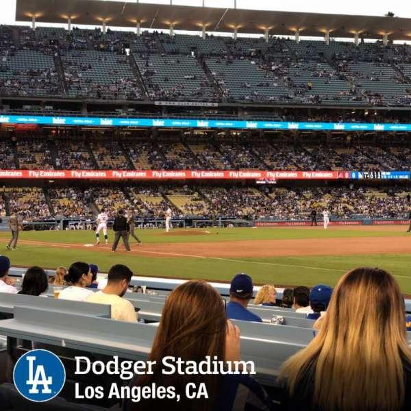 Dodger Stadium, secção: 36FD, fila: A, lugar: 8