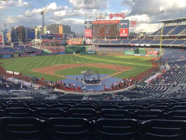 Nationals Park, secção: 213, fila: J, lugar: 13