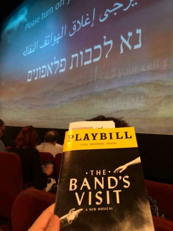 Ethel Barrymore Theatre, secção: Orchestra R, fila: B, lugar: 4