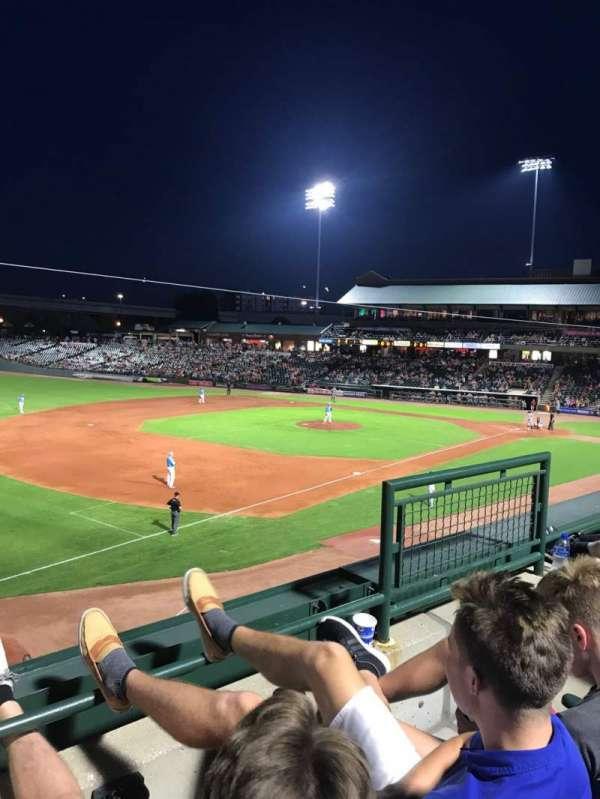 Louisville Slugger Field, secção: 224, fila: B, lugar: 4