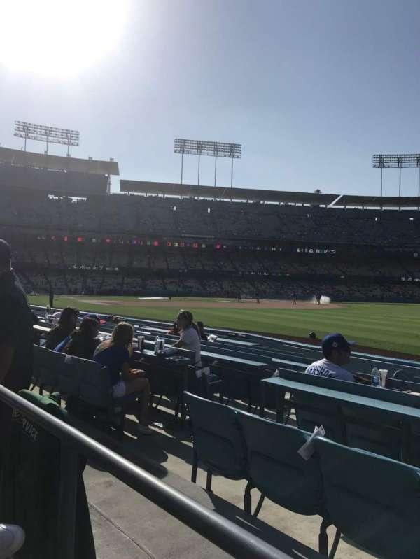 Dodger Stadium, secção: 44FD, fila: A, lugar: 6