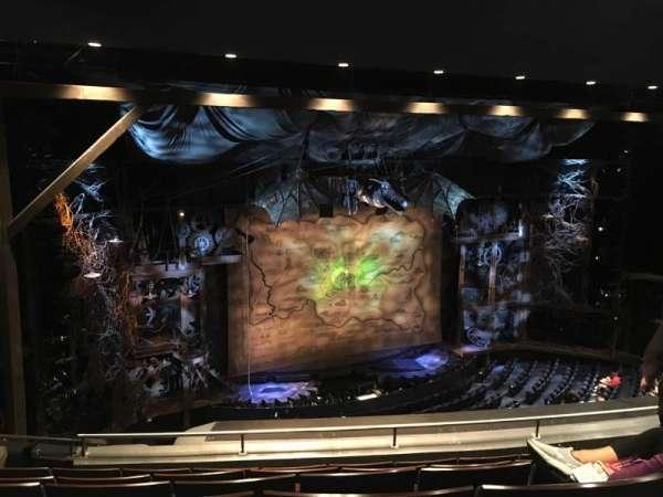 Gershwin Theatre, secção: Rear Mezzanine L, fila: F, lugar: 21