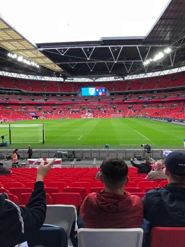 Wembley stadium , secção: 132, fila: 18, lugar: 290