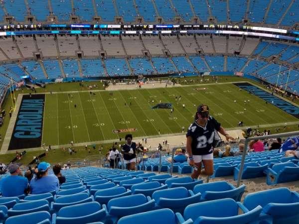 Bank of America Stadium, secção: 545, fila: 33, lugar: 4