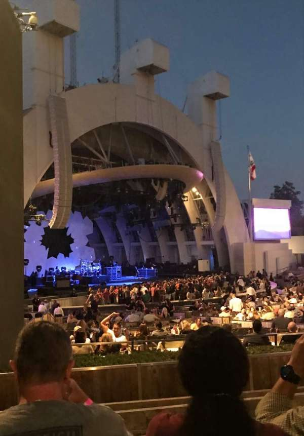 Hollywood Bowl, secção: E, fila: 6, lugar: 37