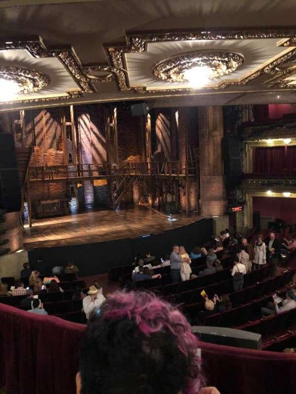 CIBC Theatre, secção: Dress Circle L, fila: B, lugar: 3
