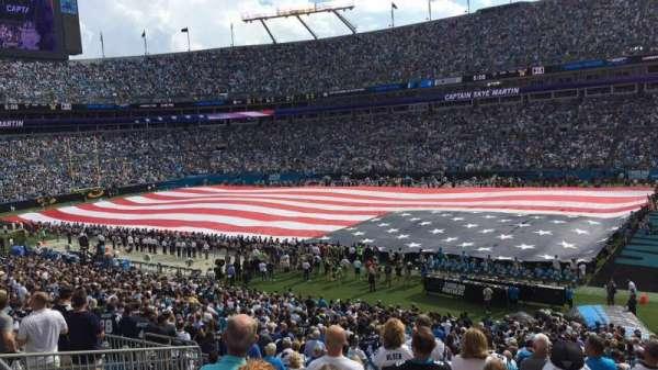Bank of America Stadium, secção: 311, fila: 9, lugar: 7