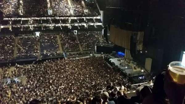 The O2 Arena, secção: 420, fila: M, lugar: 923