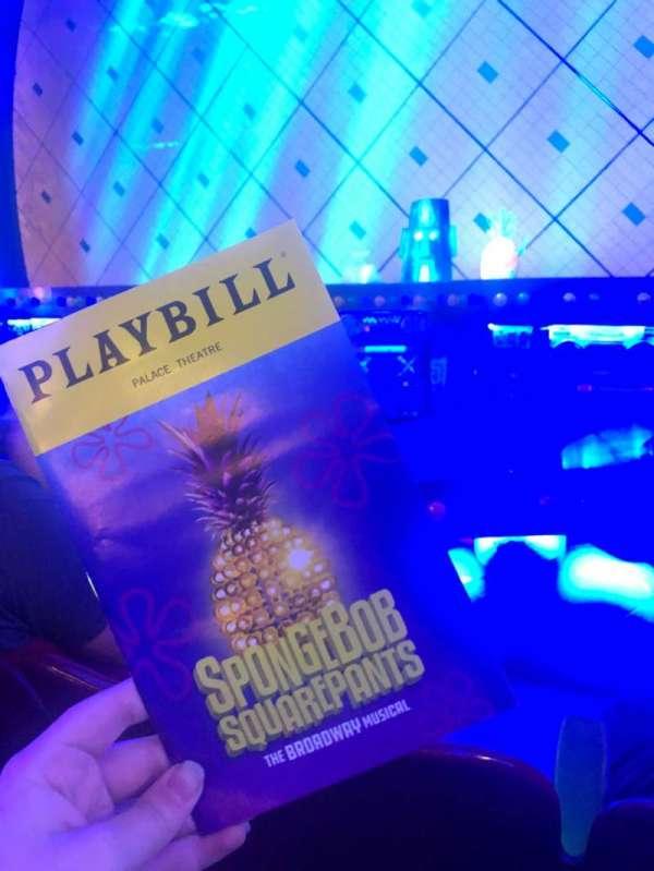Palace Theatre (Broadway), secção: Orchestra, fila: C, lugar: 108