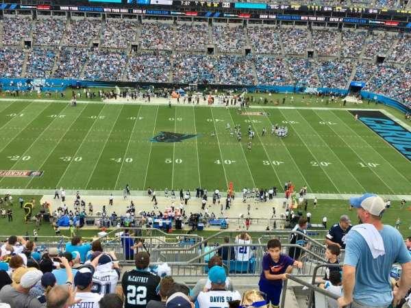 Bank Of America Stadium, secção: 515, fila: 11, lugar: 1