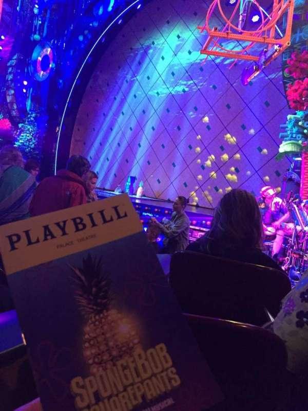 Palace Theatre (Broadway), secção: ORCH, fila: J, lugar: 4