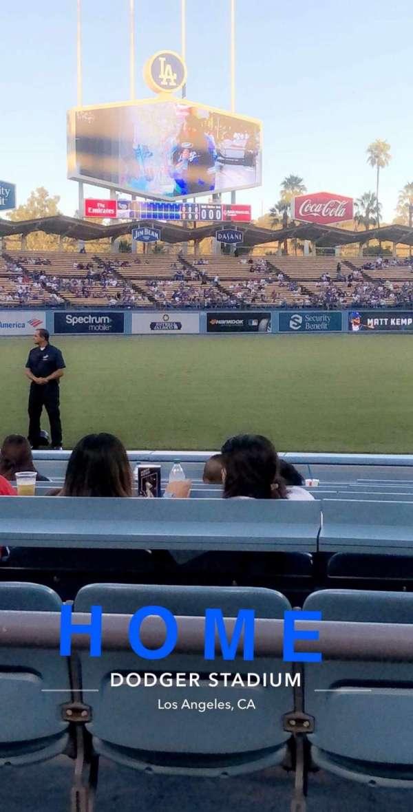 Dodger Stadium, secção: 39FD, fila: 2, lugar: 3-4