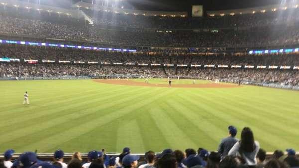 Dodger Stadium, secção: 313PL, fila: L, lugar: 6