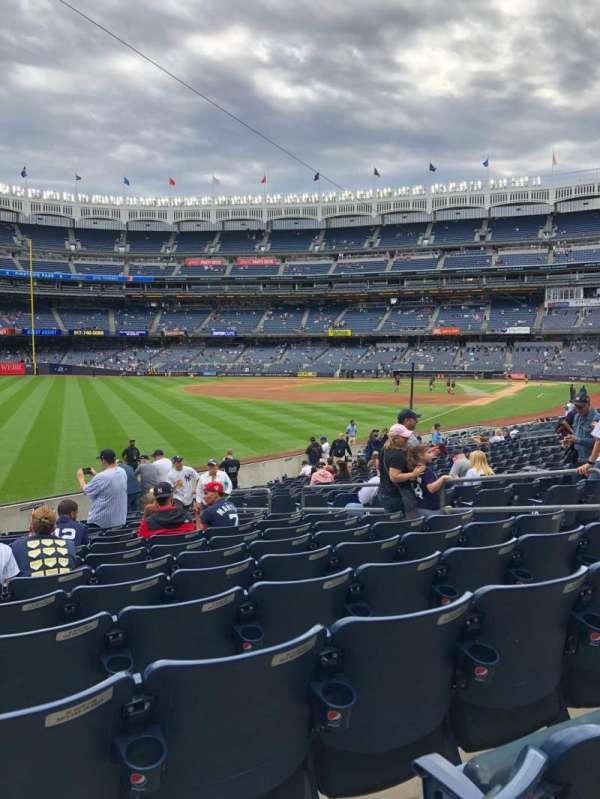 Yankee Stadium, secção: 131, fila: 15, lugar: 9