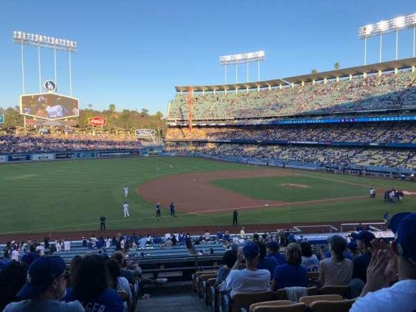 Dodger Stadium, secção: 143LG, fila: J, lugar: 1