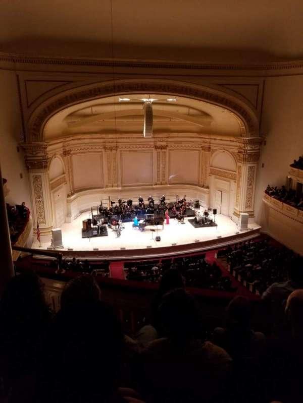Carnegie Hall, secção: Dress Circle LC, fila: DD, lugar: 15