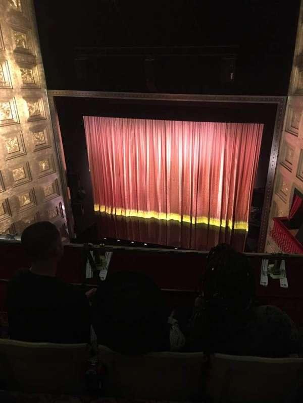 Savoy Theatre, secção: Upper circle, fila: C, lugar: 4