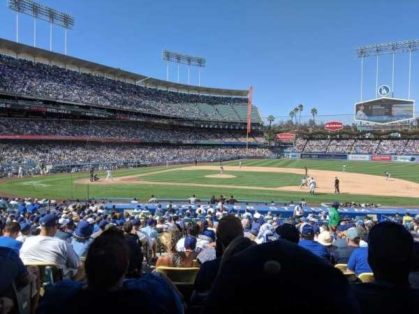 Dodger Stadium, secção: 20FD, fila: V, lugar: 2