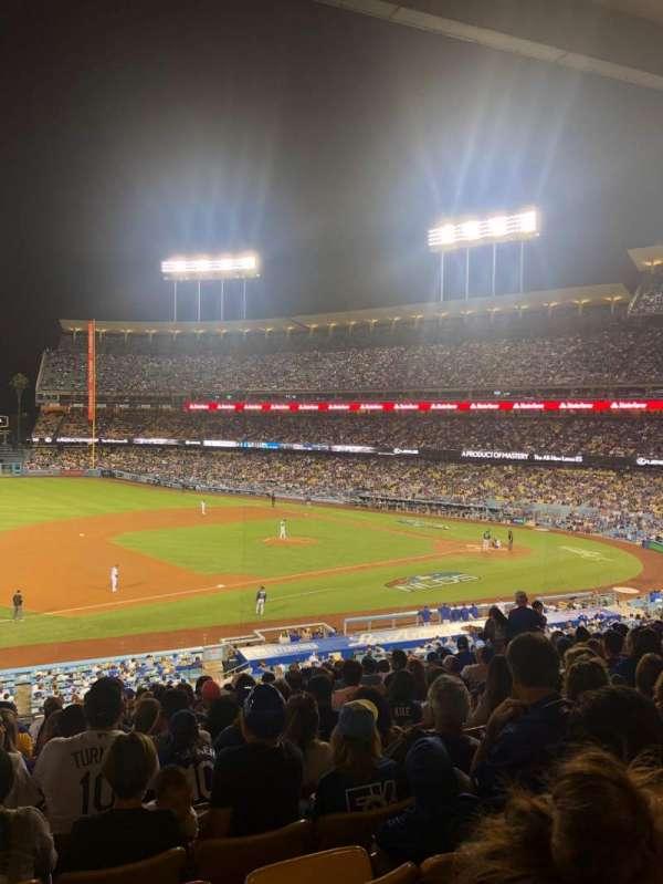 Dodger Stadium, secção: 141LG, fila: O, lugar: 5-6