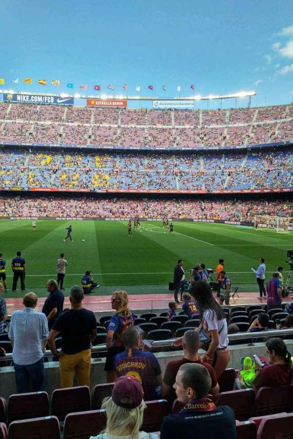 Camp Nou, secção: 108, fila: 05, lugar: 10