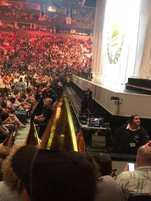Bridgestone Arena, secção: 107, fila: EE, lugar: 7