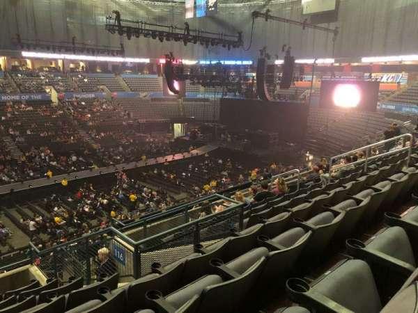 Chesapeake Energy Arena, secção: 224, fila: H, lugar: 5