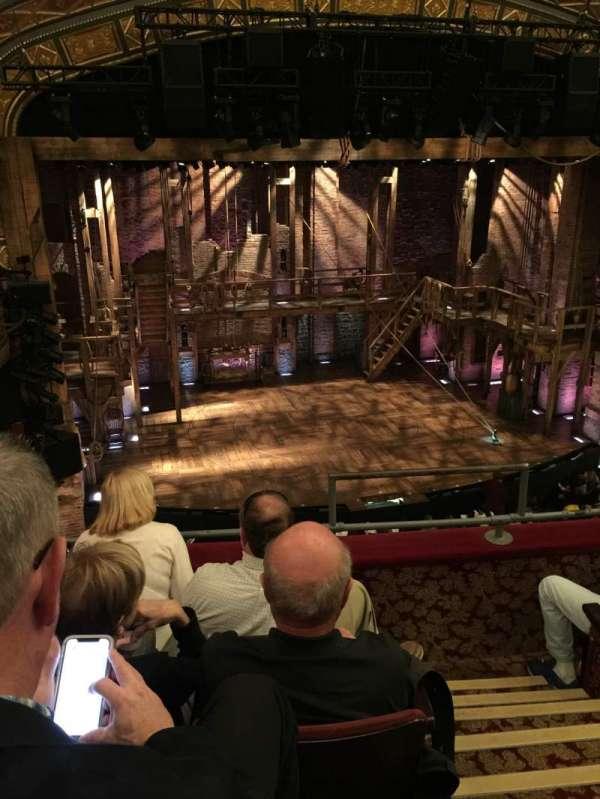 Richard Rodgers Theatre, secção: Front Mezzanine L, fila: D, lugar: 3