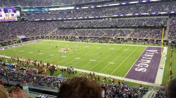 U.S. Bank Stadium, secção: 206, fila: 2, lugar: 3