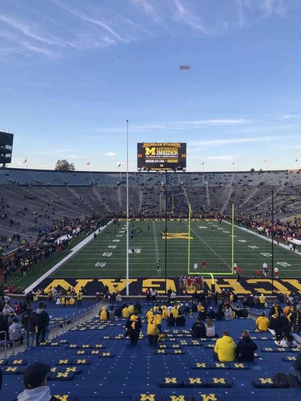 Michigan Stadium, secção: 13, fila: 58, lugar: 20