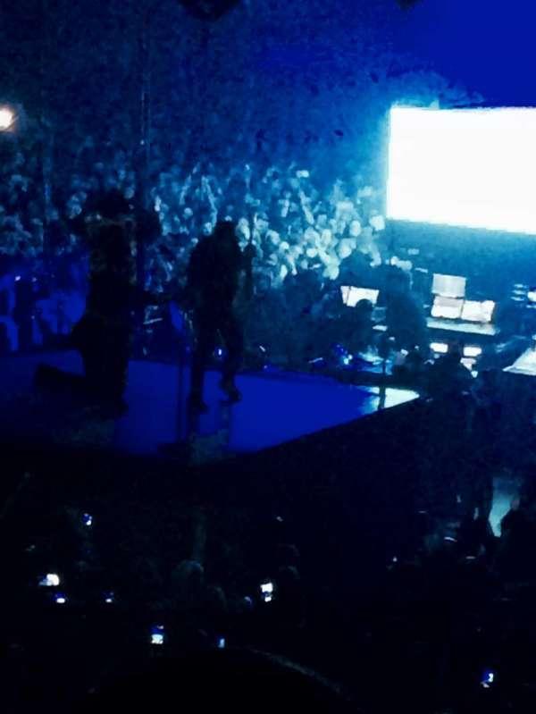 The O2 Arena, secção: B, fila: Q, lugar: 228