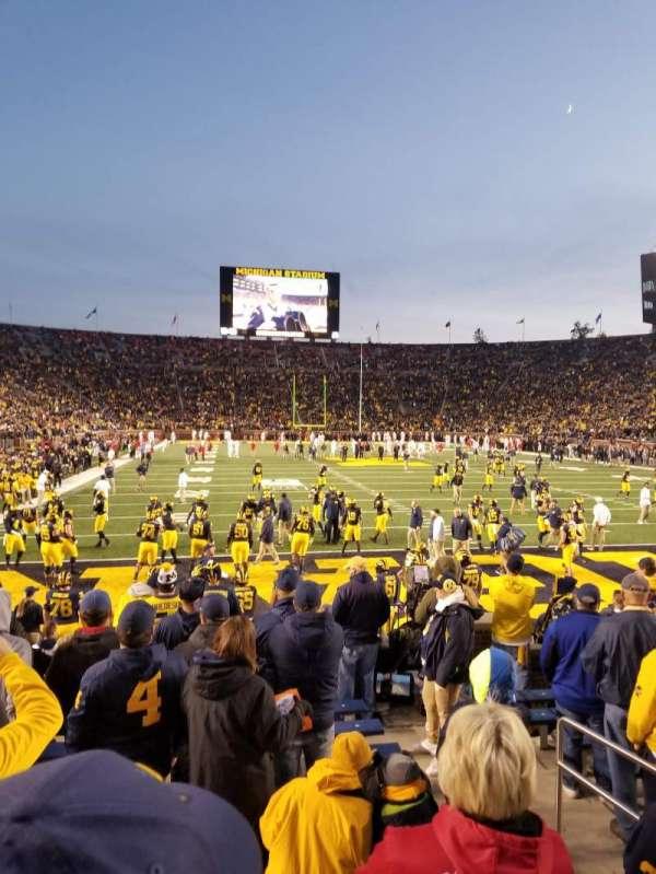 Michigan Stadium, secção: 35, fila: 10, lugar: 7 and 8