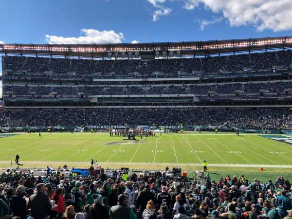Lincoln Financial Field, secção: 121, fila: 33, lugar: 14