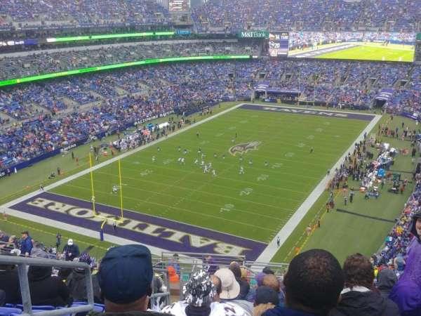 M&T Bank Stadium, secção: 536, fila: 18, lugar: 21