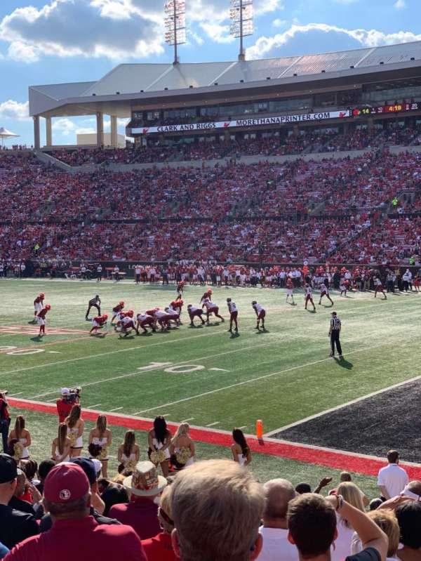 Cardinal Stadium, secção: 102, fila: P, lugar: 2