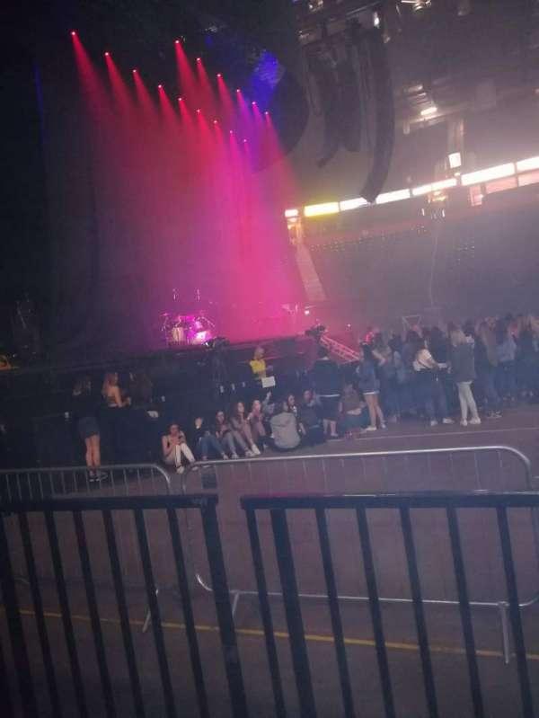 Manchester Arena, secção: 102, fila: B, lugar: 8