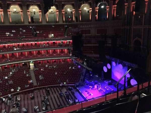 Royal Albert Hall, secção: Circle x, fila: 5, lugar: 204