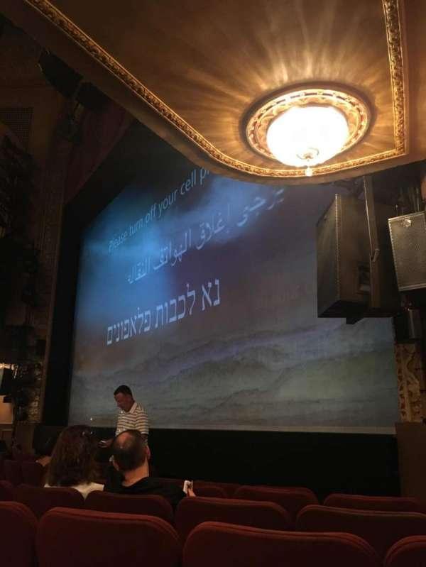 Ethel Barrymore Theatre, secção: Orchestra R, fila: E, lugar: 20