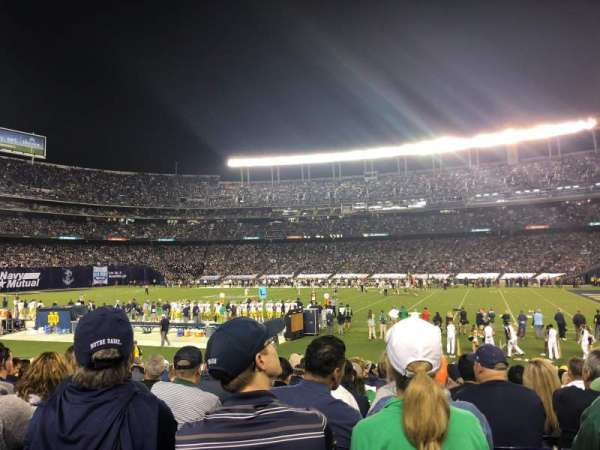San Diego Stadium, secção: F9, fila: 21, lugar: 8