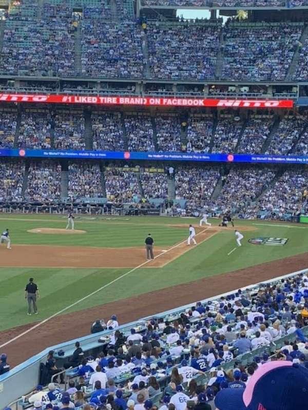 Dodger Stadium, secção: 161LG, fila: C, lugar: 8