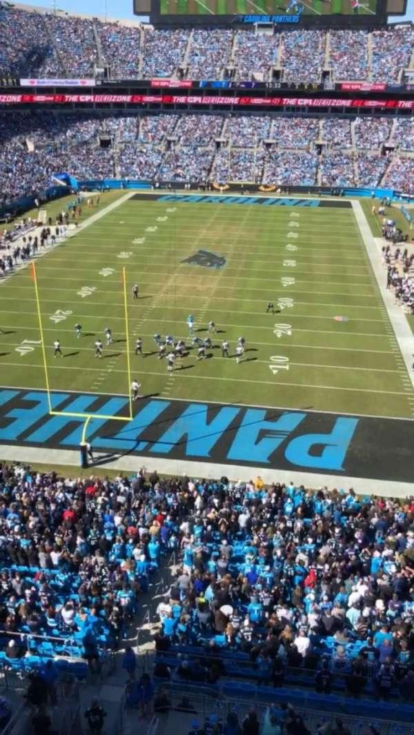Bank of America Stadium, secção: 527, fila: WC, lugar: 7
