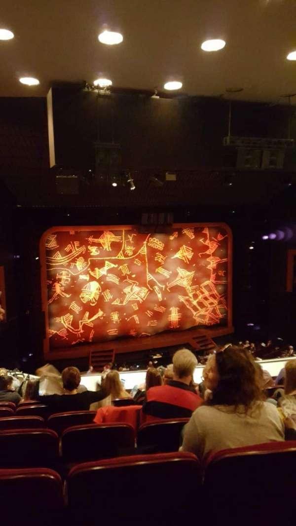 Minskoff Theatre, secção: Mezzanine, fila: G, lugar: 105