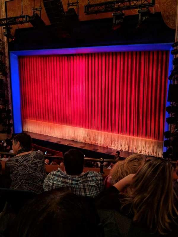 Longacre Theatre, secção: Mezzanine R, fila: D, lugar: 15