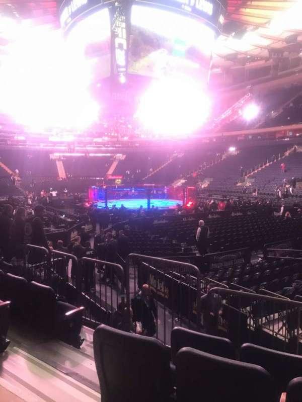 Madison Square Garden, secção: 110, fila: 7, lugar: 3