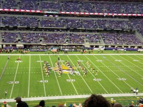 U.S. Bank Stadium, secção: C4, fila: 10, lugar: 5