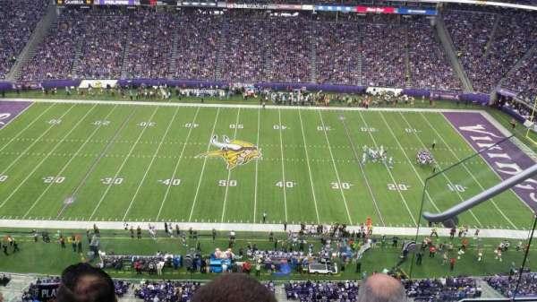 U.S. Bank Stadium, secção: 341, fila: 3, lugar: 2