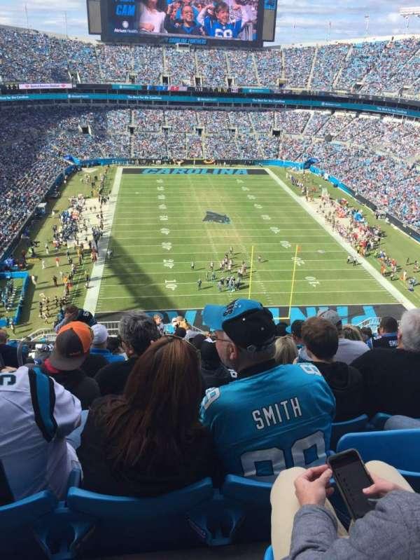 Bank of America Stadium, secção: 529, fila: 19, lugar: 23