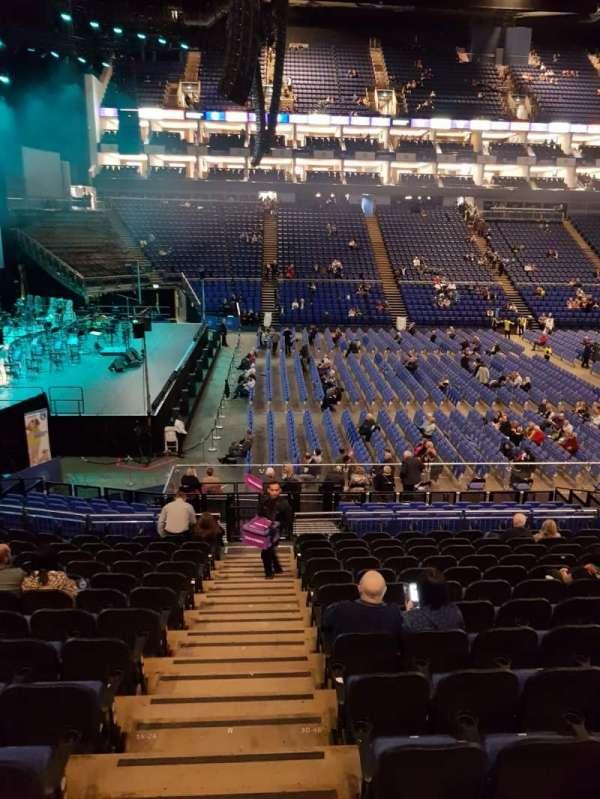 The O2 Arena, secção: 101, fila: Q, lugar: 15