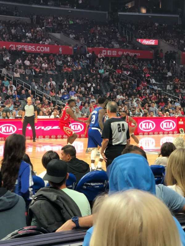 Staples Center, secção: 112, fila: 4, lugar: 18