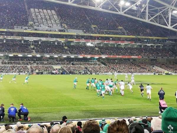 Aviva Stadium, secção: 106, fila: T, lugar: 22