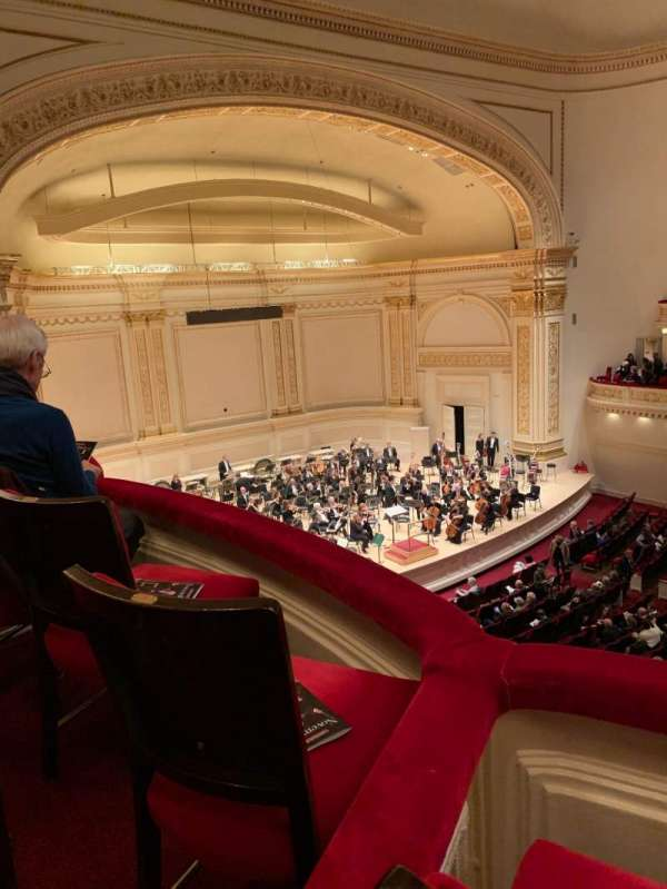 Carnegie Hall, secção: Tier 2, fila: Box 48, lugar: 6